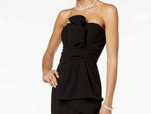 Black Adrianna Papell Evening Gown
